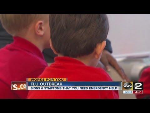 Signs your flu symptoms need emergency help