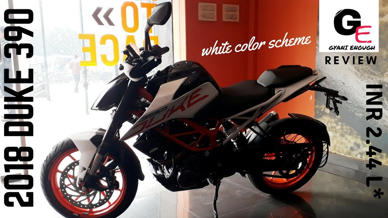Ktm 390 duke 2018 limited edition white color scheme detailed walkaround review