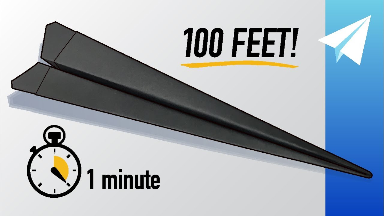 Download How to Make an Easy Paper Airplane in 1 Minute! (60 Seconds) Competition Winner — Flies 100+ Feet!