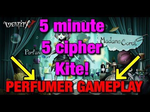 Identity V: 5 cipher 5 Minute  kite| Perfumer Gameplay| Lakeside Village