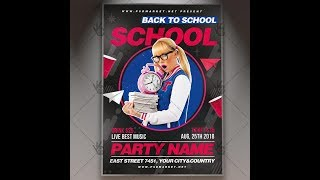 Back to School Flyer - PSD Template