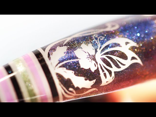 (How To) Ethereal Galaxy Garden Pearl-Pastel Water Paint Coloring Nail Art