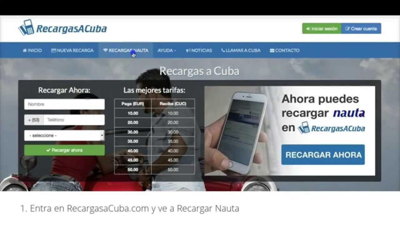 C Mo Recargar Nauta Con Youtube