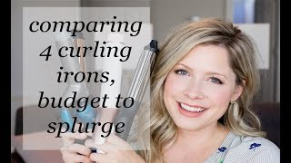 Comparing 4 curling irons, from budget to splurge!
