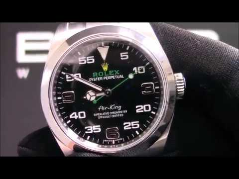 Pre-Owned Rolex Air-King 116900 Black Arabic Dial For Sale