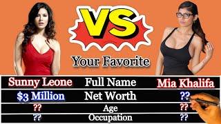 Sunny Leone vs Mia Khalifa Comparison | 2020