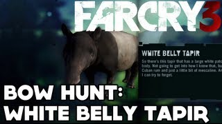 Far Cry 3 - Path of the Hunter - Bow Hunt: White Belly Tapir [RARE]