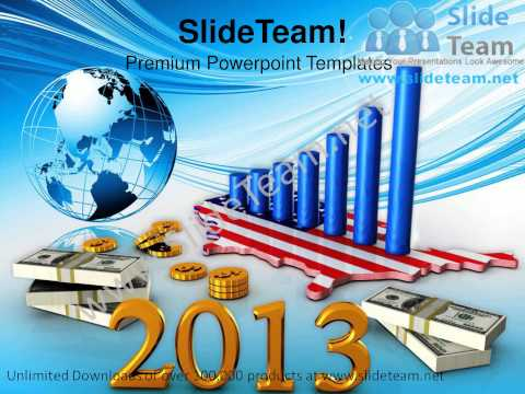 New Year Business Profits Globe Americana PowerPoint Templates PPT Backgrounds  1112 Slides Backgrounds