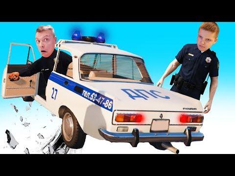 Безумная ПОЛИЦЕЙСКАЯ ПОГОНЯ Игорь и Папа работают на ПОЛИЦИЮ в GTA5