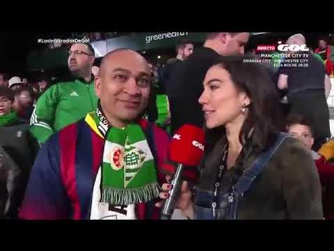 Ovación a Leo Messi en el Benito Villamarín