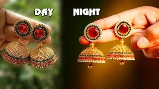 Simple and Beautiful Silk Thread Earrings | Making Silk Thread Jhumkas #1