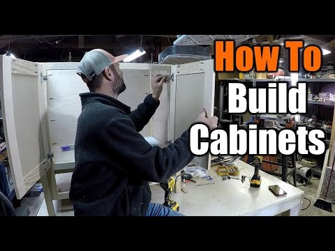 How To Build Cabinet Doors And Drawers The EASY Way   THE HANDYMAN   1940s Bathroom Remodel