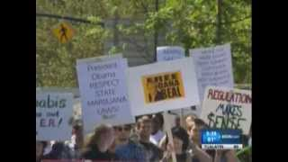 Global Cannabis March 2013 - Portland, Oregon - KGW