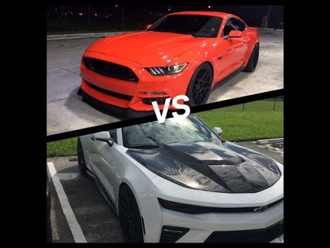 procharged 2015 mustang gt vs procharged 2016 camaro ss youtube. Black Bedroom Furniture Sets. Home Design Ideas