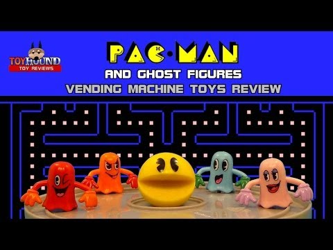 PAC-MAN AND GHOST FIGURES SET,Vending Machine Toys Review
