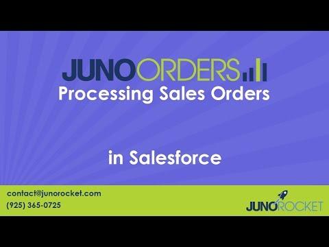 Creating Salesforce Sales Orders Using Juno Orders