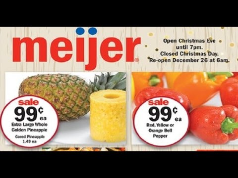 meijer weekly ad preview valid to 12/21 2016 - YouTube