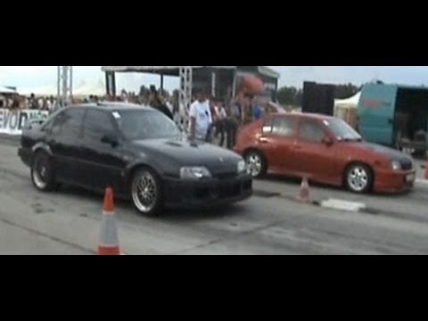 lotus omega carlton vs opel kadett gsi drag race 1 4 mile. Black Bedroom Furniture Sets. Home Design Ideas