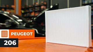 Como substituir Filtro de ar do habitáculo PEUGEOT 206 Hatchback (2A/C) - vídeo guia