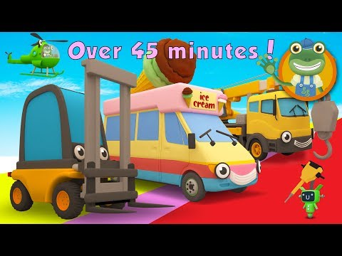 Florence The Forklift Truck and More Trucks For Children   Gecko's Garage