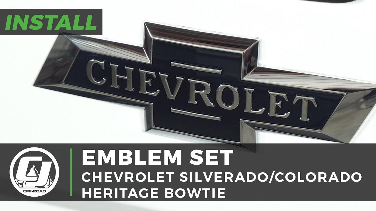2014-2015 Silverado 1500 Z71 Front Grille Emblem Badge Chrome Blue TWO