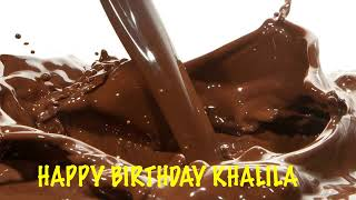 Khalila  Chocolate - Happy Birthday