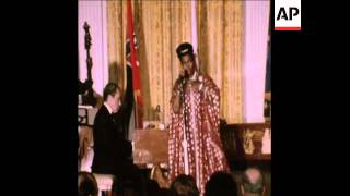 SYND 9-3-74 NIXON ACCOMPANIES SINGER PEARL BAILEY AT THE PIANO