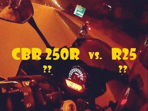 Yamaha R25 vs. Honda Cbr 250r Highway Drag Race