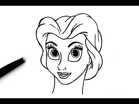 Comment dessiner belle la belle et la b te youtube - Coloriage de la belle et la bete ...