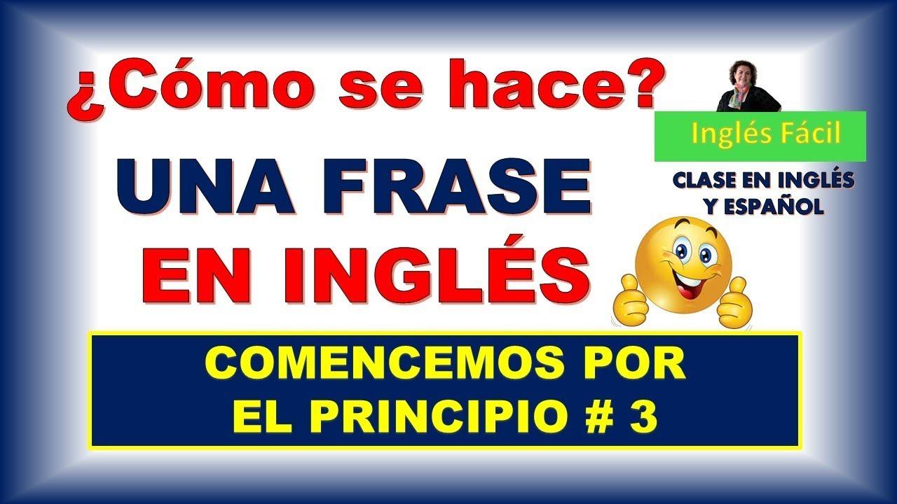 Como Hacer Una Frase En Inglés Elementos Básicos E Indispensables Inglés Fácil