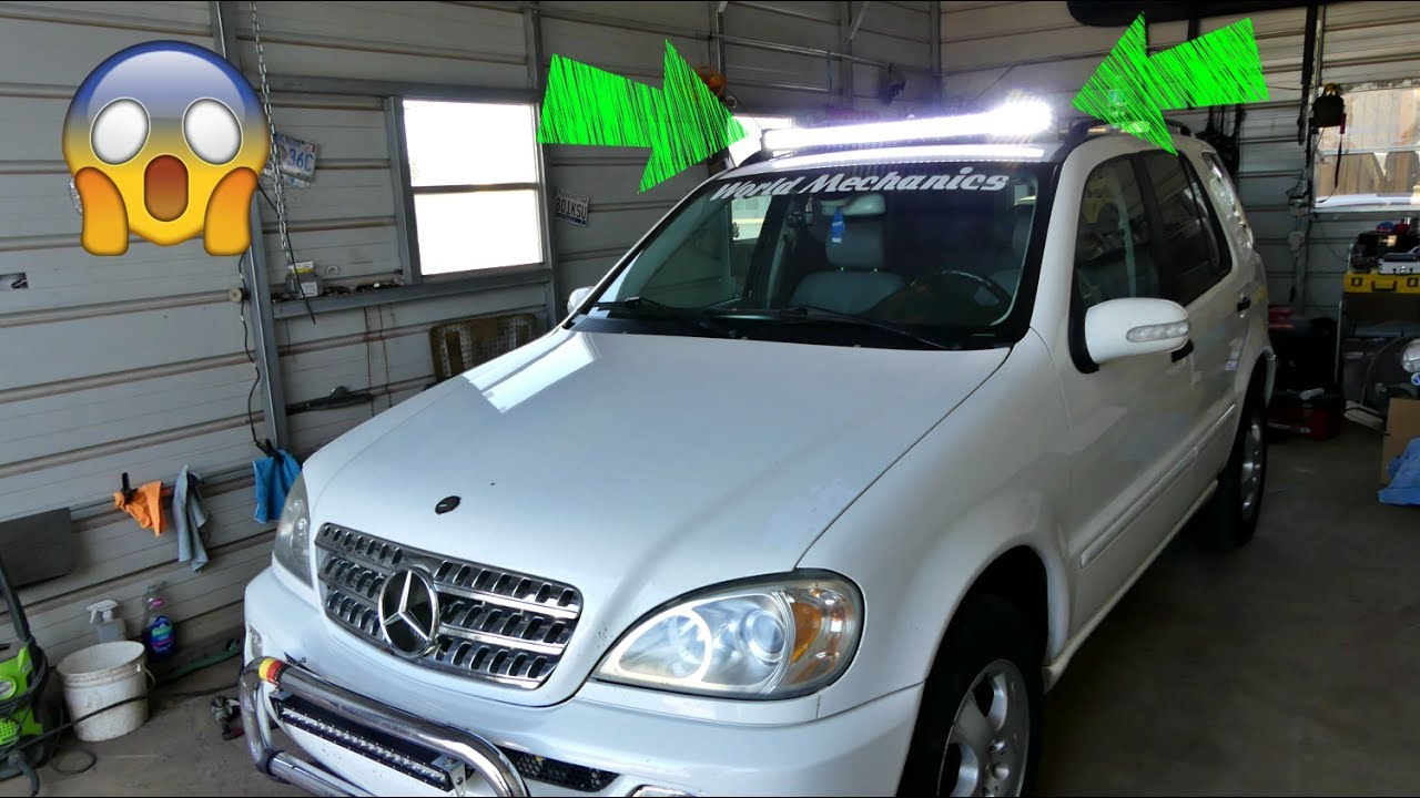 AUXBEAM LED LIGHT BAR Install on Mercedes Product Review - YouTube