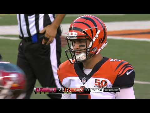 AJ McCarron Laser First Down Pass To Core! |Bengals vs Buccaneers|