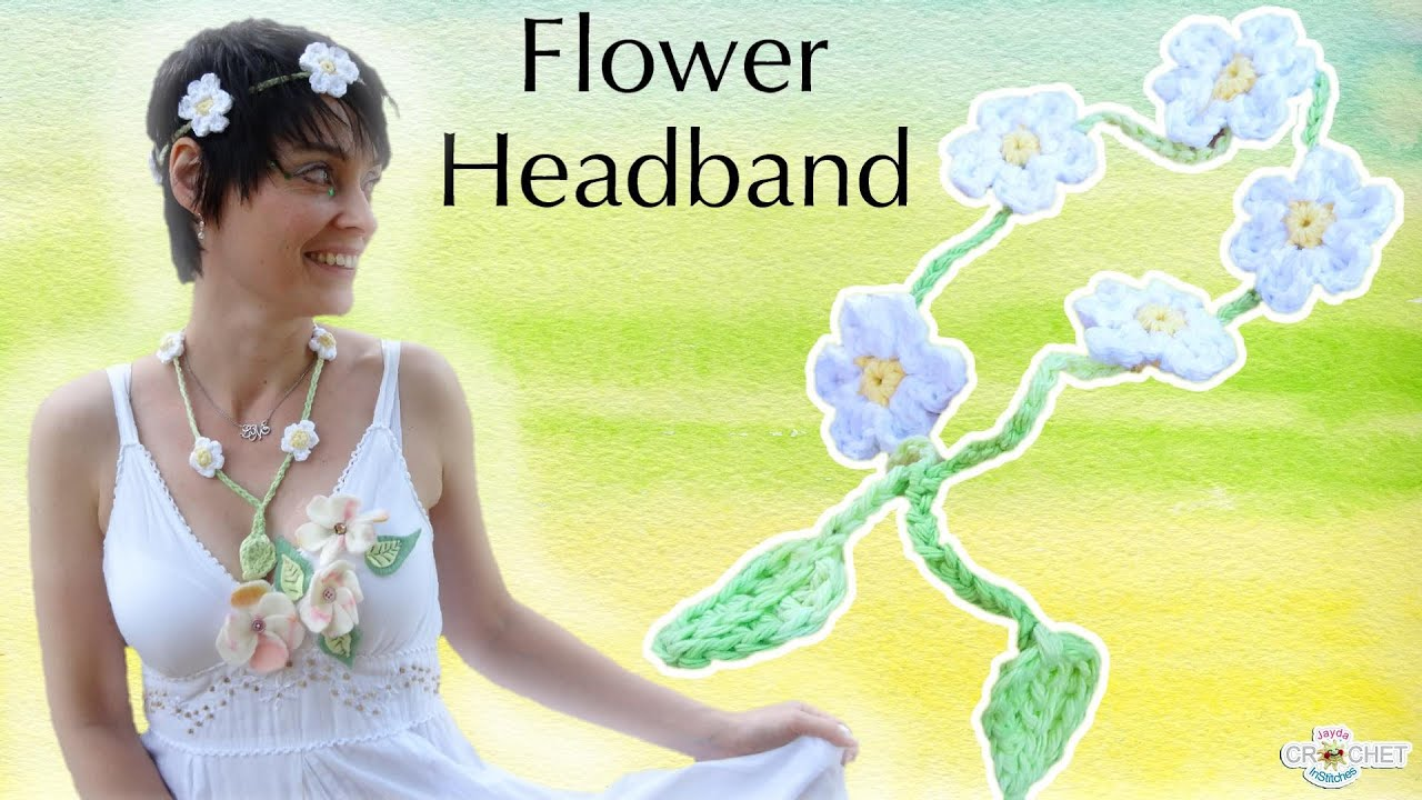 Crochet flower headband festival fashion diy pattern youtube mightylinksfo