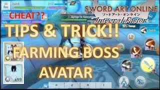 [SAO IF] TRICK CARA CEPAT DAPAT AVATAR BOSS WORKED!!! SWORD ART ONLINE INTEGRAL FACTOR CHEAT