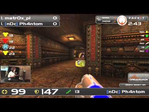 DHW2013 - Quake Live (GROUP D - R4) - matr0x_pl vs Ph4ntom