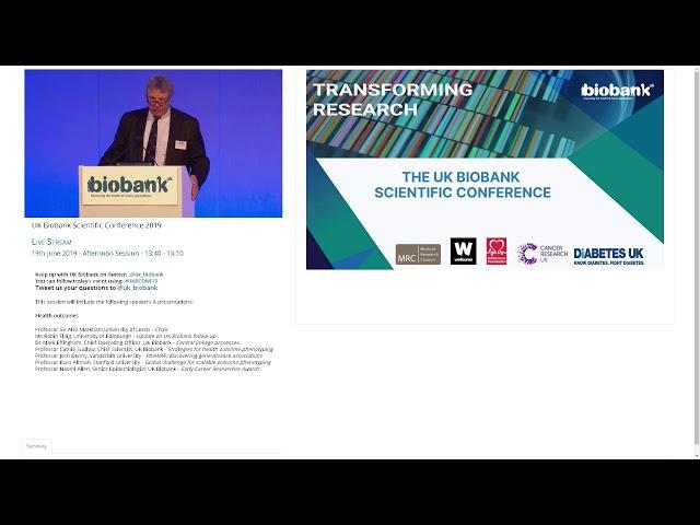 Sir Alex Markham - Health Outcomes