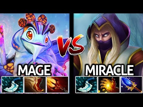 Miracle Invoker VS Mage Puck Epic Mid Lane Battle 7.21 Dota 2