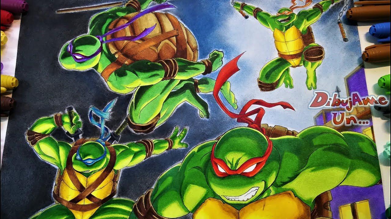 Reto Bic Marking Challenge Dibujando A Las Tortugas Ninja Drawing The Teenage Mutant Ninja Turtles