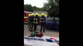 999 cadets road traffic collision demonstration