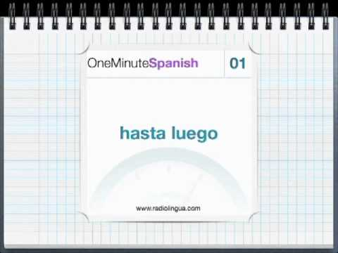 One Minute Spanish for Latin America - Demo Episode