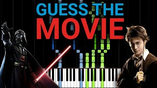 Can You Guess All Movie Themes? Guess the Movie Soundtrack! (25 Movies Piano Quiz) [Part 1]