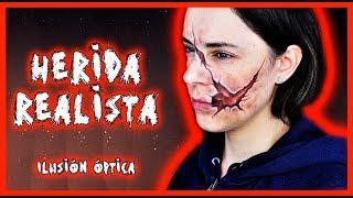 Tutorial maquillaje Herida realista, ilusión óptica  | Silvia Quiros