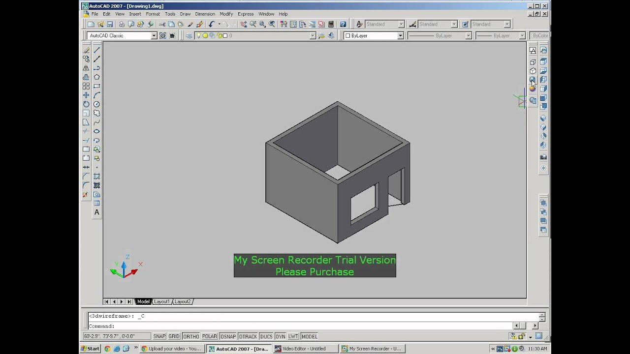 Captivating 1 Room Convert To 3D Autocad 2007