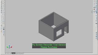 1 room convert to 3D autocad 2007