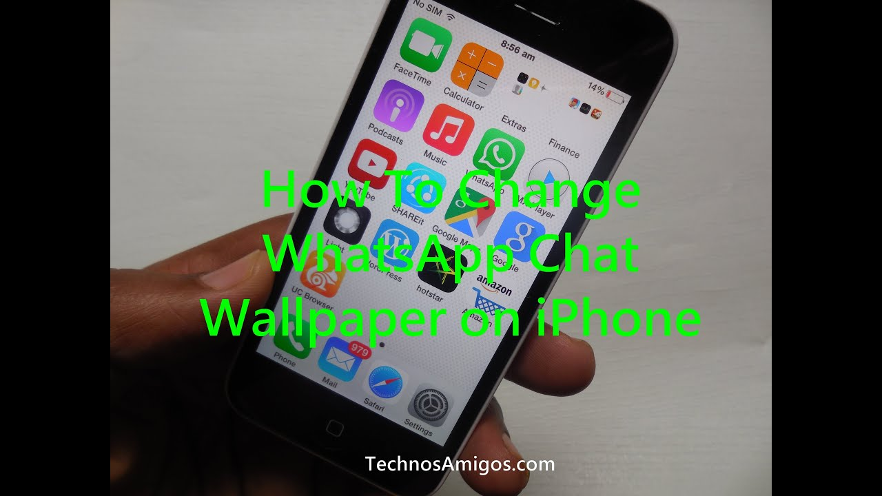 How To Change Whatsapp Chat Wallpaper On Iphone Iphone X Iphone Xs