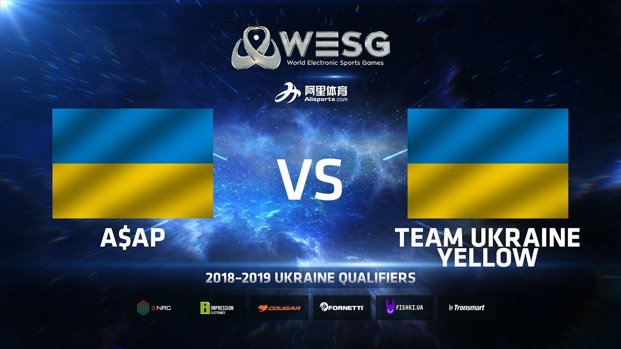 A$AP vs Team Ukraine Yellow, Game 1, WESG 2018-2019 Ukraine Qualifiers