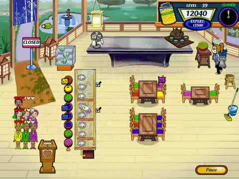 Let's Play Diner Dash 2: Restaurant Rescue 23 - Curtains and a Cherry Blossom