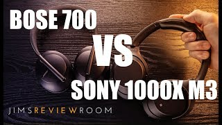 Bose 700 Headphones VS Sony 1000xm3 ANC Headphones - Comparison Video