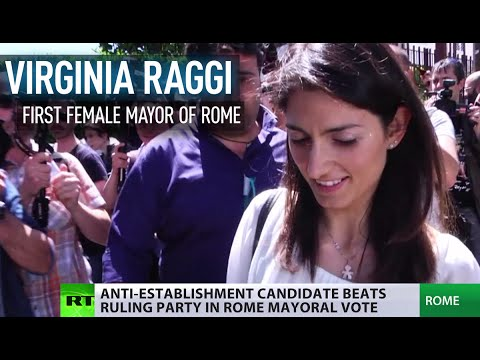 Eurosceptic & first female mayor: Virginia Raggi beats ruling party in Rome vote