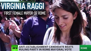 Eurosceptic & first female mayor: Virginia Raggi beats ruling party in Rome vote